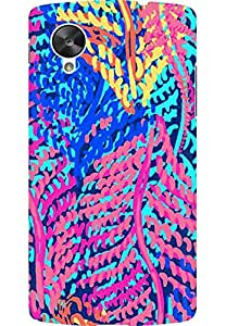 AMEZ designer printed 3d premium high quality back case cover for LG Google Nexus 5 (abstract flower)