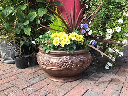 Grande byzantine ronde Bol Bronze (couleur) Effet Pot de jardin