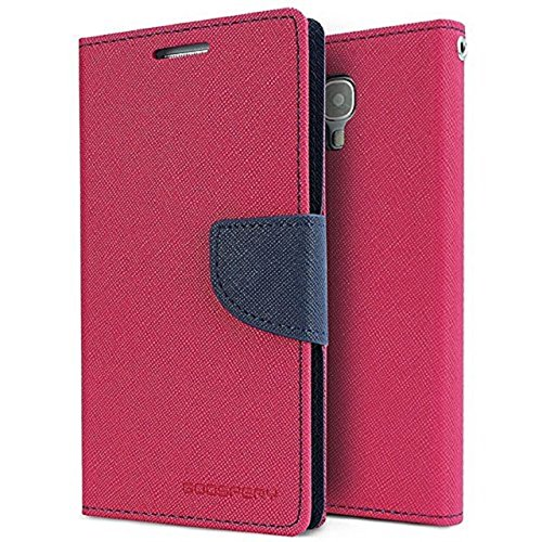 RJR MERCURY GOOSPERY WALLET STYLE FLIP BACK CASE COVER FOR MICROMAX UNITE 2 A106-PINK BLUE  available at amazon for Rs.199