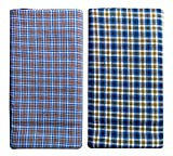 #5: Cotton Lungi Assorted Color Checks 2.25 Mtr. Pack of 2