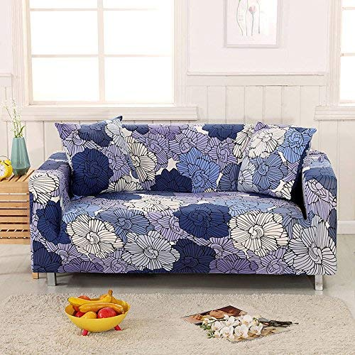 BAIF Leaves Stripes Printing Floral Sofabezug Tight Wrap All-Inclusive-Möbel Protector Sofa Handtuch 1/2/3/4-Sitzer (90-300cm), Farbe 4,2sitzer 145-185cm -