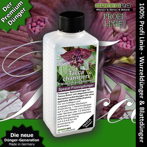 Fledermausblumen-Dünger HIGH-TECH Tacca chantrieri NPK Düngemittel für Fledermausblume, Teufelsblume, Fledermauspflanze, Dämonenblüte - Pflanzen düngen