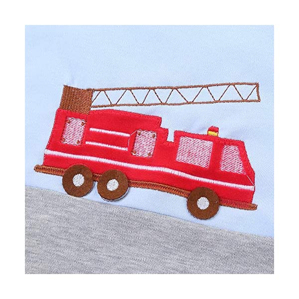 schlabigu Saco de Dormir para bebé, de algodón, Gris y Azul, para niños y niñas. – 2,5 TOG Feuerwehrauto. Azul Azul/Gris Talla:150CM/6-10Jahre