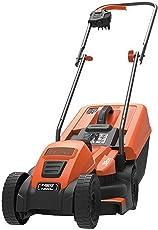 Black + Decker EMAX32S-GB Electric Lawn Mower (1200-Watt, 32cm, Orange, Plastic)