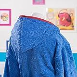 Sancarlos - Albornoz de pingüino, algodón, color azul, talla 10-12