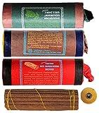 Tibetische Räucherstäbchen 3er Set Tibetan Juniper Incense - Red Sandalwood - White Sandalwood mit Dorje und Beutel