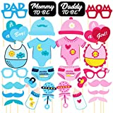 #6: Discount Retail Photo Booth Props for Baby Shower (28 Pieces)