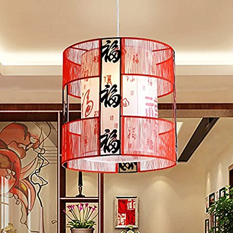 Cinese moderno lampadario lampada illumina il corridoio corridoio balconi Hotel lanterne rosse lampade di seta nera , ben arrotondati