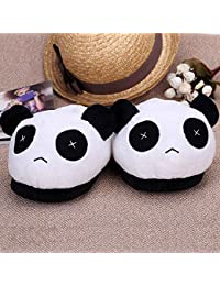 Anself Peluche Chaussons Panda Hiver Chaud Doux