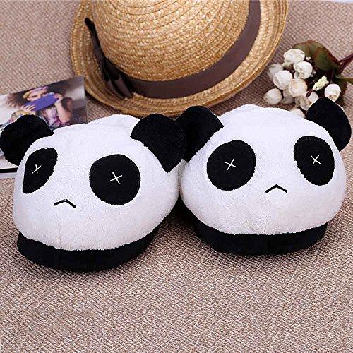 Taille Homme Peluche Anself Doux Panda Blanc Hiver Chaussons noir Cotons  Chaud Garçon Unique En AWwqqrP5Y 6dc5273918c2