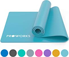 Proworks Yoga Mat, Eco Friendly NBR, Non-Slip Exercise Mat with Carry Strap for Yoga, Pilates, and Gymnastics - 183cm x...