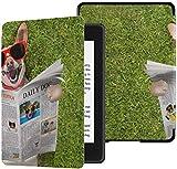 Estuche para Paperwhite Kindle Generation 10 Perros de Lectura Periódico o Revista Kindle Paperwhite E-Reader Funda Protectora Estuche con Auto Wake/Sleep 2018 Kindle Paperwhite Cover 10th Generat