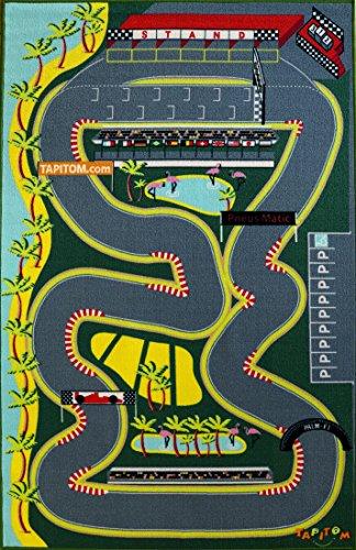 TAPITOM Alfombra Circuito para pequeños coches - F1 alfombra infantil