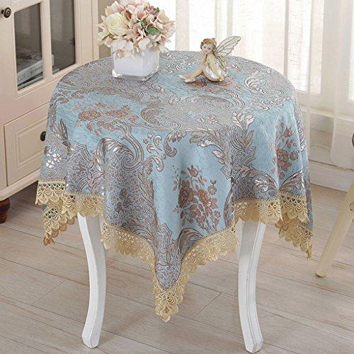 Tischdecke Quadratische Tischdecke, Europäische Tischdecken Nachttisch Tuch Abdeckung Tuch Kleine Quadratische Tischdecken ( größe : 85*85CM ) Rot Polka Dot Tischdecke