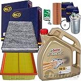 1x Filter Set Inspektions Paket 1x 5L Castrol Edge FST LL 5W30 1x Kraftstofffilter 1x Luftfilter 1x Filter, Innenraumluft 1x Oelfilter 1x Oelablassschraube 1x Oelwechselanhaenger