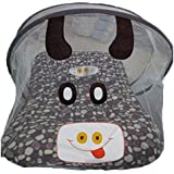 Chinmay Kids Polka Print Portable Baby Crib Mosquito Net Tent Multi-Function Cradle Bed Infant Foldable Mosquito Netting (Brown)