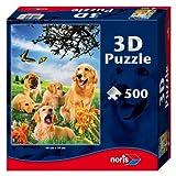 Noris Spiele 606031083 - Hunde 3D Puzzle, 500 Teile