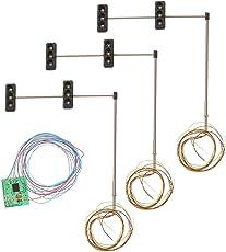 Magideal 3pcs 70mm Model 3-Light Metal Traffic Signal Lights 5-6V LED 4#