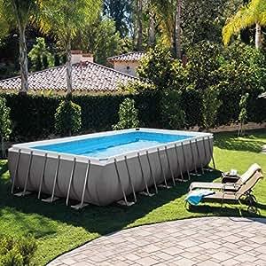 intex 12 54978 ultra quadra ii frame pool set 732 x 366 x. Black Bedroom Furniture Sets. Home Design Ideas