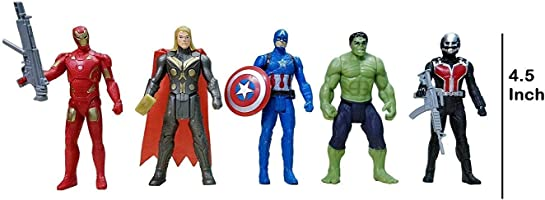 Avengers Toys Set - Captain America, Ironman, Hulk, Ant Man and Thor - Infinity War 5 Action Hero Collection...