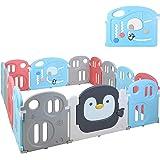 Bamny Parque de Juego, Parque de Juego para bebés, Parque Infantil, Patio de Juegos de Seguridad para Niños, Lavable, Portáti