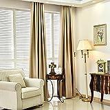 Colori solidi tende oscuranti per la camera da letto Faux lino moderne tende per il salone della finestra tende avvolgibili su ordine , meters wide 3 meters [x2.7]]