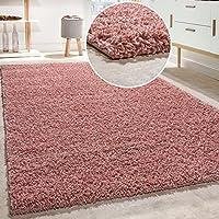 Alfombra Shaggy De Pelo Alto Y Largo De Alta Calidad Pastel En Distintos Colores, Tamaño:70x140 cm, Farbe:Pink