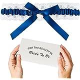 Set di Giarrettiere di Pizzo Blu Sposa, Regalo di Giarrettiera da Sposa Nuziale - Qualcosa di Blu