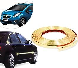 Vheelocityin Decorative Gold Chrome Strip For Interior / Extrerior - 20M For ...