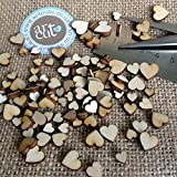 Artcuts Mini Mixed Wooden Hearts Wedding Scatter Hearts Embellishments for Craft