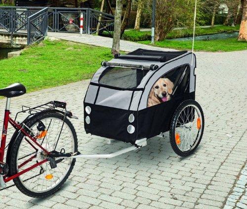TEFLON® Hunde Fahrrad Anhänger Fahrradanhänger Bis 40 KG belastbar - Hundebuggyfunktion möglich (Hund Fahrrad Anhänger)