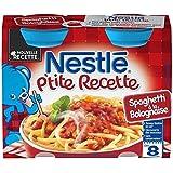 Nestlé p'tite recette spaghetti à la bolognaise 2x200g des 8 mois - ( Prix Unitaire ) - Envoi Rapide Et Soignée