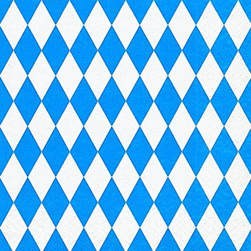 Preisvergleich Produktbild 20 Servietten Bayern / Oktoberfest - 3-lagig - von DH-Konzept // Papierservietten Party Geburtstag Bavaria Blau Weiss Napkins