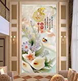 Y-Hui Corridor frescoes entrance aisle wallpapers screen TV background wall paintings nonwovens jade carving 3d 3d wallpaper,180cmX120cm