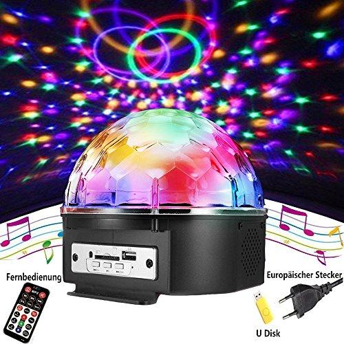 Discokugel,SOLMORE LED Discokugel Kinder Partylicht Disco Lichteffekte mit Fernbedienung Discolicht Projektor Beleuchtung für Party Wohnzimmer...