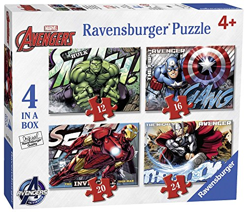 Ravensburger 07021 - avengers puzzle 4 in a box