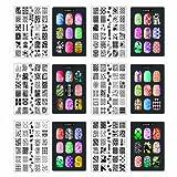 CICI & SISI Nail Art Stamp Collection Set Jumbo 1 - Set von 6 JUMBO Nailart Stamping Polish Manicure Speicherfolien Zubehör-Kit (insgesamt 216 Bilder) Alle New Designs mit GRATIS STAMPER & Schälgeräte SET WERBEANGEBOT