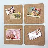 Tiptiper 4Pcs mini messaggio bordo foto bollettino Square Chalkboards coperture di legno di colore