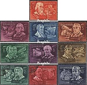 Hongrie 1011-1020 (complète.Edition.) 1948 inventeur et découvreur (Timbres pour les collectionneurs)