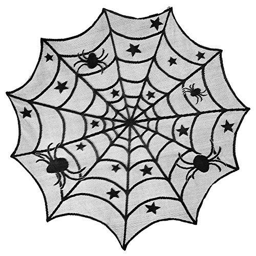 gotische black lace schläger spinnennetz tischdecken für topper halloween hohl dekor (Dekor Spinnennetz)
