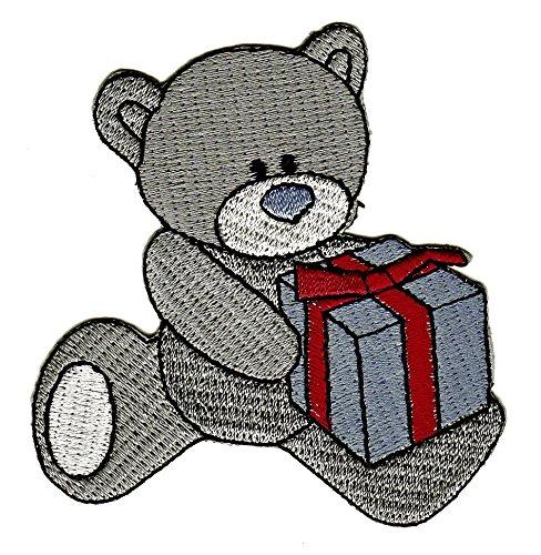 Teddy Bär Geschenk Box Aufnäher Bügelbild (Teddys Bären)