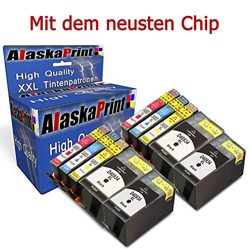 WOW 10er Set Druckerpatronen Komaptibel für HP 934XL 935XL 934 XL 935 XL für HP Officejet Pro 6830...