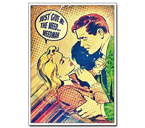 Pop Art Poster --- The Weedman --- Retro Vintage ähnlich Roy Lichtenstein Illustration