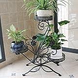 DSJ Flower Racks Eisen Blumenständer Multi - Floor Floor Blumenständer Balkon Pflanzenständer Indoor European - Style Grün Liran Orchid Pot Regal,BBB