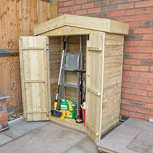 Forest Plus Pressure Treated Overlap Apex Garden Store, Natural, 4 x 2 ft Best Price and Cheapest