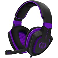 Cuffie da gioco per PC, PS4, Xbox One, tablet, Mac, Smart Phone, cuffie da gioco con cancellazione del rumore, bassi…