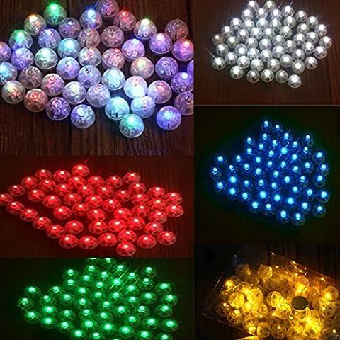 Generic 50pcs Helle Mini Ballon Lampe Nachtlicht Licht Weihnachten Partei Geburtstag Dekor - Rot