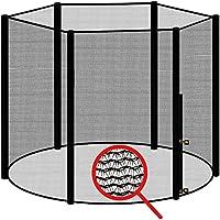 Preisvergleich für awm® Trampolin Sicherheitsnetz für 6 Stangen - System Fangnetz Netz außenliegend Trampolinnetz Ersatznetz schwarz