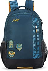 Skybags Bingo Extra 35.5005 Ltrs Blue School Backpack (SBBIE01BLU)