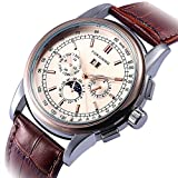 Gute Herren Rosengold Automatik Mechanik Armbanduhr Datum Tag Geschenk